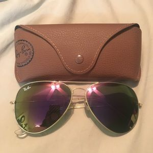 Ray Ban Aviator purple/green sunglasses